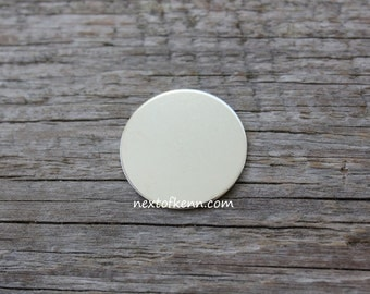 7/8 Inch 20 Gauge Sterling Silver Round Circle Discs Jewelry Stamping Supplies