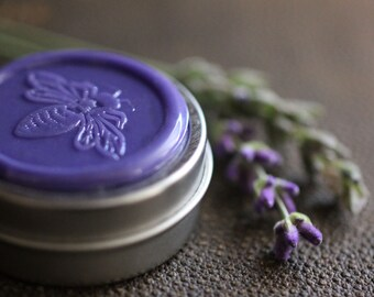 Vera Solid Natural Perfume Round Tin. An all natural, botanical fragrance. Meaning true, the word Vera is the Latin binomial for lavender.