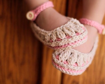 Crochet Pattern - Baby Booties - Molly Summer Slippers