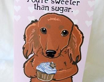 Doxie Cupcake Greeting Card