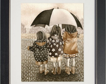 Rainy Day - archival watercolor print by Tracy Lizotte