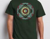 Men's Mandala T-shirt, Graphic Tee, Unisex, Yin Yang, Lotus, Yoga T-shirt, Gift for Him