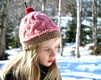Wool Cupcake Hat, Toddlers and Kids