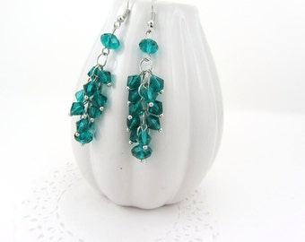 Cluster Sparkling Earrings
