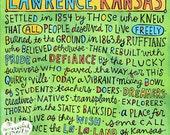 Lawrence, Kansas (8x10 doodle print)
