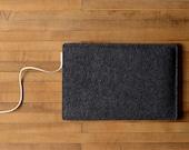 "Simple 12"" MacBook Sleeve - Charcoal Felt - Short Side Opening"