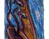 Dancing Sax- print MATTED to fit 10x20