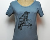 SALE- Organic Raven Tee- Women's Scoop Neck - Earth Ocean