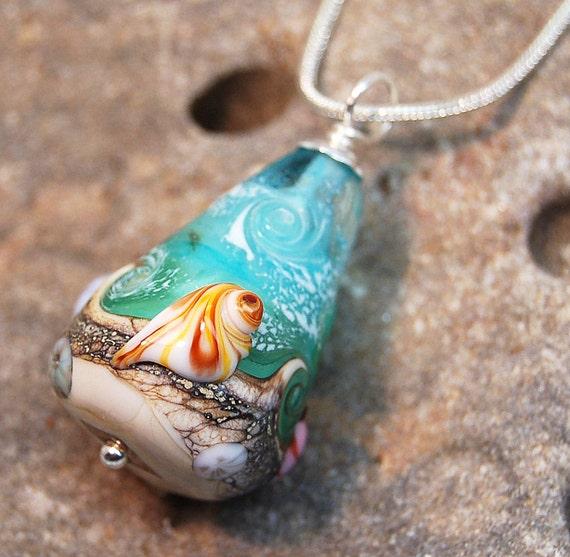 Summer Never Ends Beach Bead - Lampwork Pendant