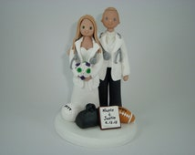 Cake Toppers - Personalized Doctor Wedding Cake Topper