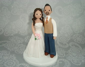 Cake Topper - Personalized Bride & Groom Wedding