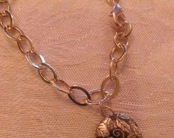 Leaf & Berry Charm Bracelet