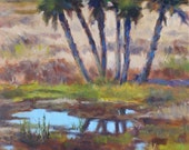 Wetlands, 8x8 Original Oil Painting , FREE SHIPPING in US