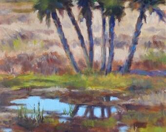 Wetlands, 8x8 Original Oil Painting