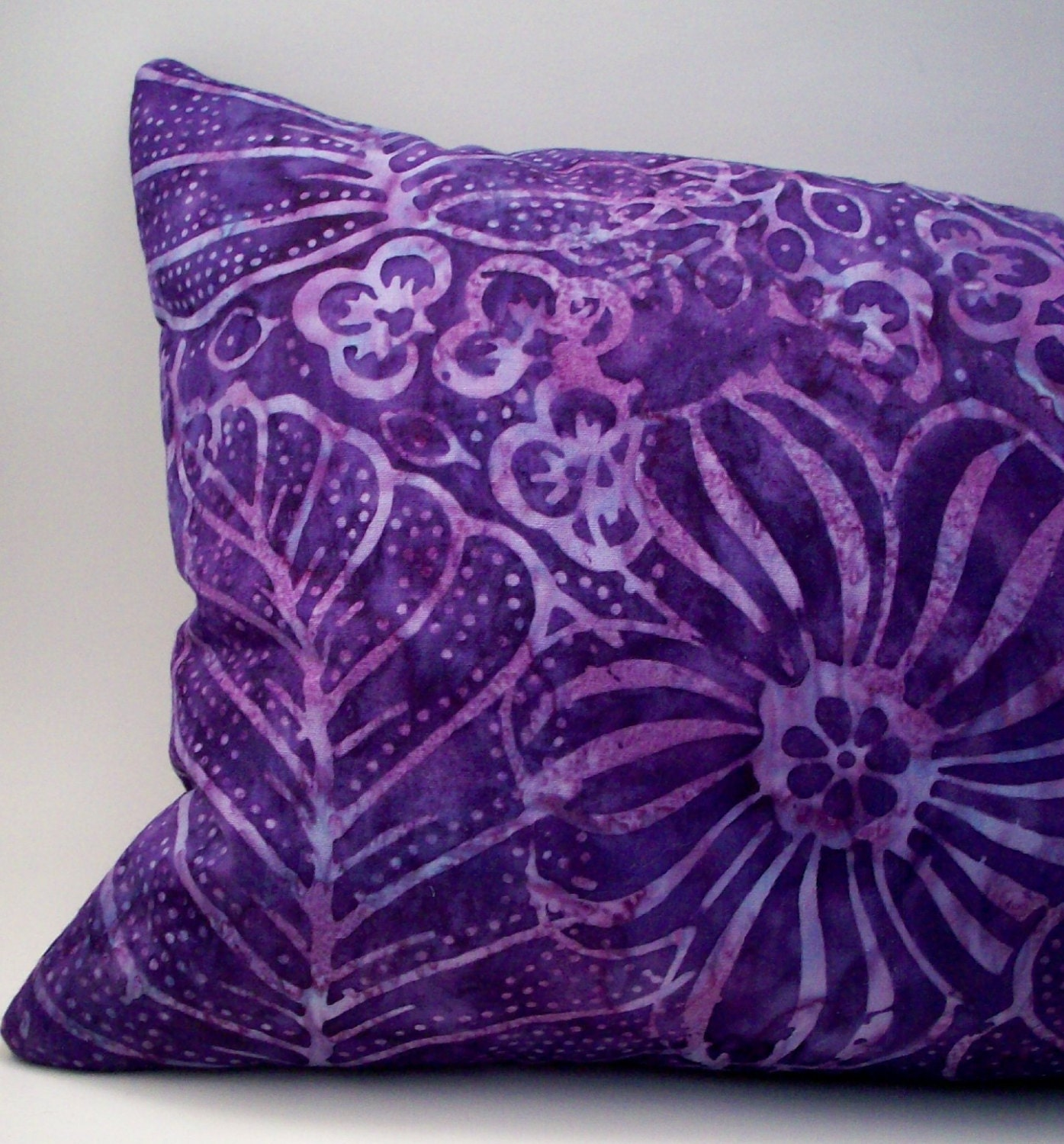 Lavender Buckwheat Neck Roll Throw Pillow Purple Tropical