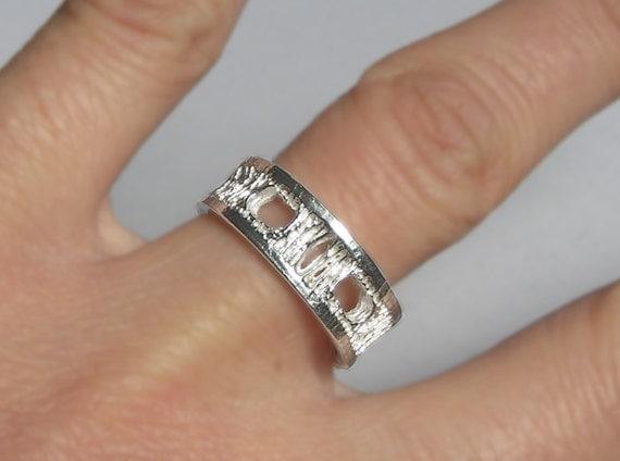 Silver Shark Vertebra Ring - Small