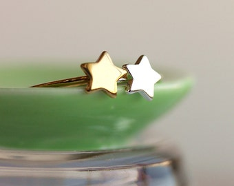 Delicate Star Ring- Gold Star Ring, Everyday jewelry,Silver Star Ring,Stacking Ring,Gift for Her,Gift Under 20,Handmade by Maki Y design