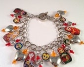 Matryoshka Doll Charm Bracelet