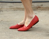 Red Leather Flat