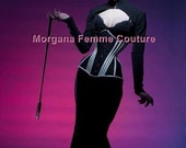 READY TO WEAR- size 18 to 26 inch Victorian longline corset