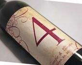 Table Number Wine Label..... Citron Vintage Brown