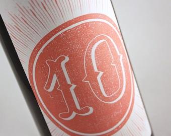 Table Number Wine Label....Sunburst