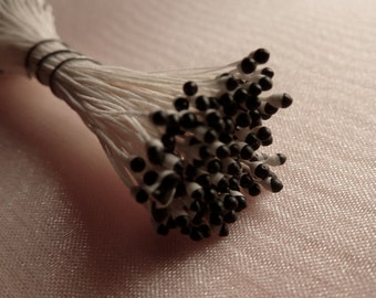Stamens in White & Black made in Germany  for Bridal Headpieces, Fascinators, Bouquets, Corsages