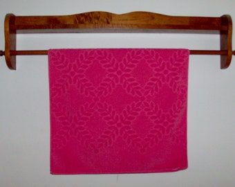 Coral Textured 50s Bath Towel