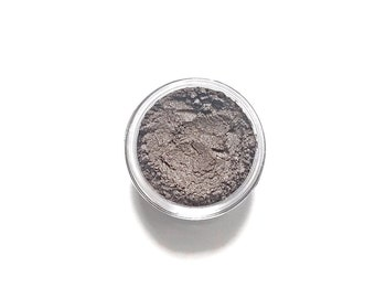 Smoke - Vegan Mineral Eyeshadow - brown with silver and bronze highlights  - Handcrafted Makeup