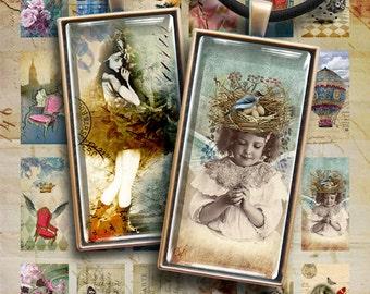 Printable Clip Art Images for pendants DIY jewellery DOMINO MIX Digital Collage Sheet Download 1x2 inch vintage scrapbooking paper Art Cult