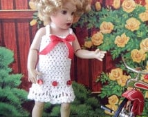 Crochet pattern (PDF) for 7-8 inch child doll - summer dress - for Riley Kish Betsy McCall etc.