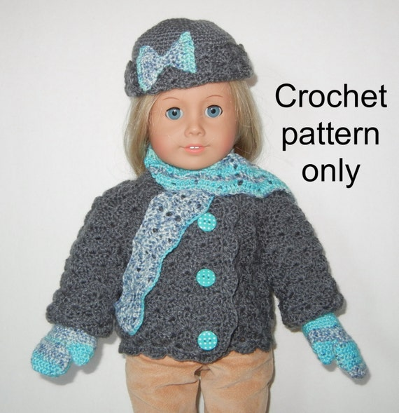 Crochet Pattern Pdf Inch Doll American Girl