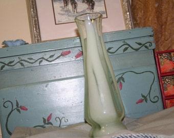Art Glass Vase in Lime
