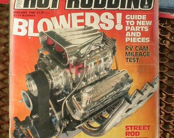 Popular Hot Rodding, February 1980, vintage car magazine, hot rods, race cars, man cave garage