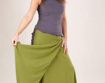 Hemp and Organic Cotton Maxi Wrap Skirt - Organic Clothing Made to Order - Choose Your Color