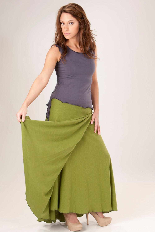 hemp and organic cotton maxi wrap skirt organic clothing