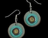 Turquoise Tribal Earrings, Polymer Clay Boho Dangle Earrings, Tribal Boho Jewelry, Unique Womens Gift, Boho Jewelry Gift, Ethnic Jewelry