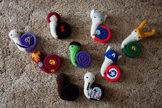 PDF of any 2 Snailvengers Amigurumi Pattern