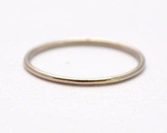 White Gold Wedding Band: 14K Thin Ring