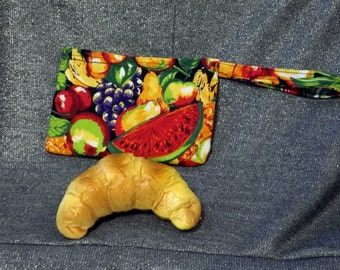 Reusable Snack Bag, Summer Fruits Print