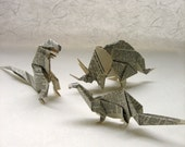 Special Order for Moniker16 -ORIGAMI - 1 Dictionary Dinosaur