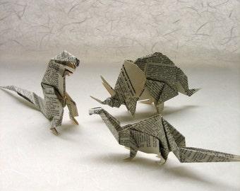 ORIGAMI - 3 Dictionary Dinosaurs