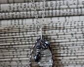 Soldered Glass Chandelier Crystal Necklace