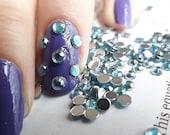 CARIBBEAN BLUE AB 3mm 12ss Acrylic Rhinestones 1 Gross 144 Pcs Flatback