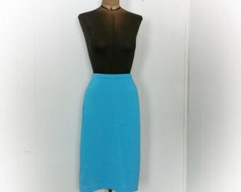 Vintage 1960s Aqua Skirt by Carol Brent