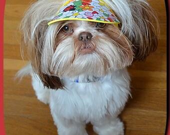 Dog Visor Hat Sz  XS  S  M