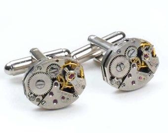 Vintage Watch Steampunk Cuff Links
