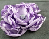 Wedding Dog Collar Flower - Lavender Singed Satin Flower