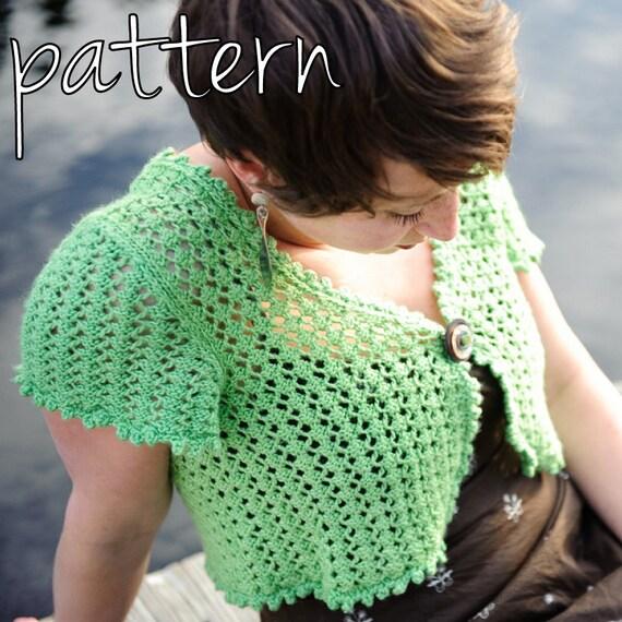Make Your Own Knitting Pattern : make your own Sweet Tea Lace Shrug DIGITAL KNITTING PATTERN