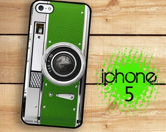 iPhone 5S SE Green camera Plastic or Rubber Case for iPhone 5 iPhone 5S Kitsch Green Plastic or Rubber Trim